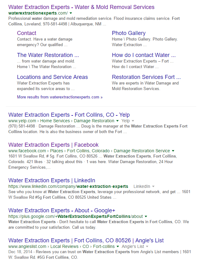 Water Extraction Experts SERPS