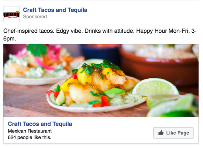 Use impactful images and copy for Facebook ads