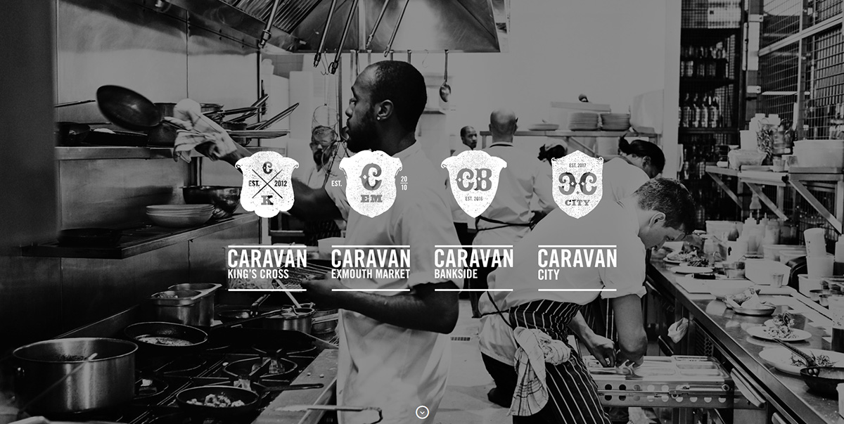 Caravan Restaurants featured on Elevare best restaurant website blog