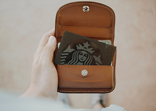 Starbucks reward card
