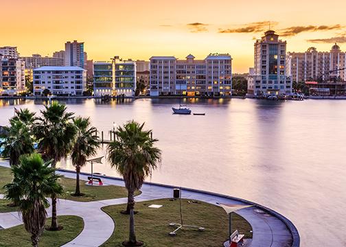 Waterway in West Palm Beach, Florida
