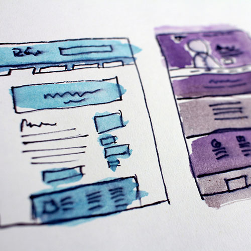 Illustration of a UX UI design
