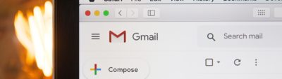 Gmail email interface