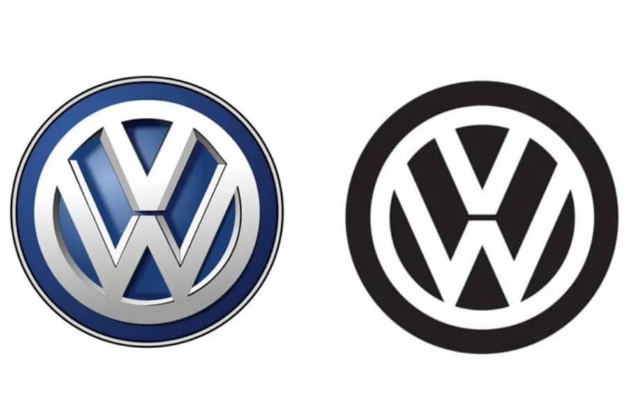 VW old and new logo