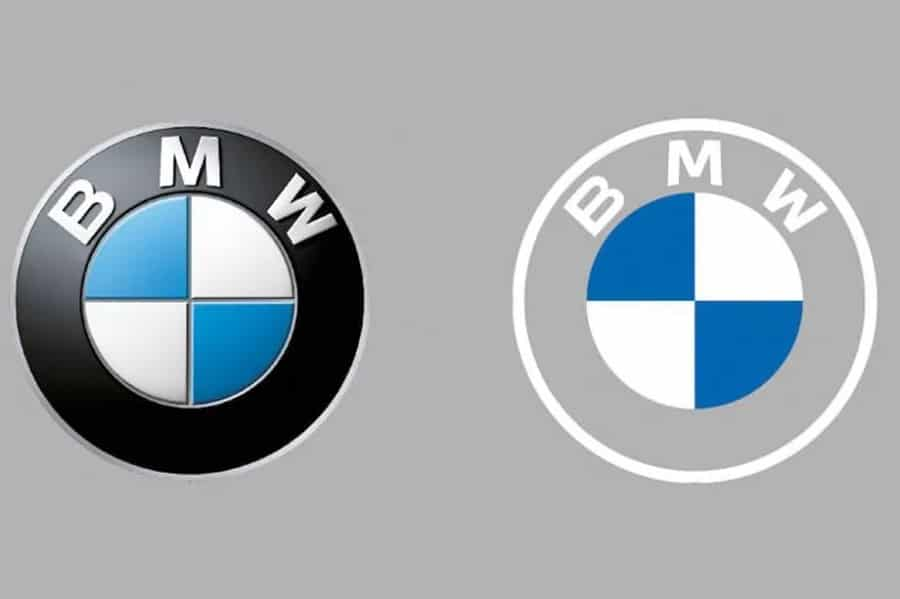 bmw old and new logo